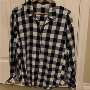 Plaid flannel used once